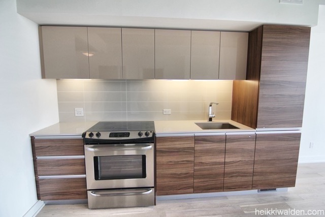 11 Peel Ave Modern kitchen with integrated appliances
