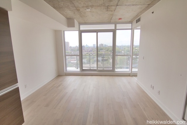 11 Peel Ave Open Concept Living area with walkout to large balcony