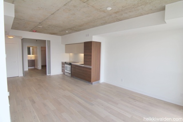 11 Peel Ave Open Concept living area with Loft style 9 foot ceilings