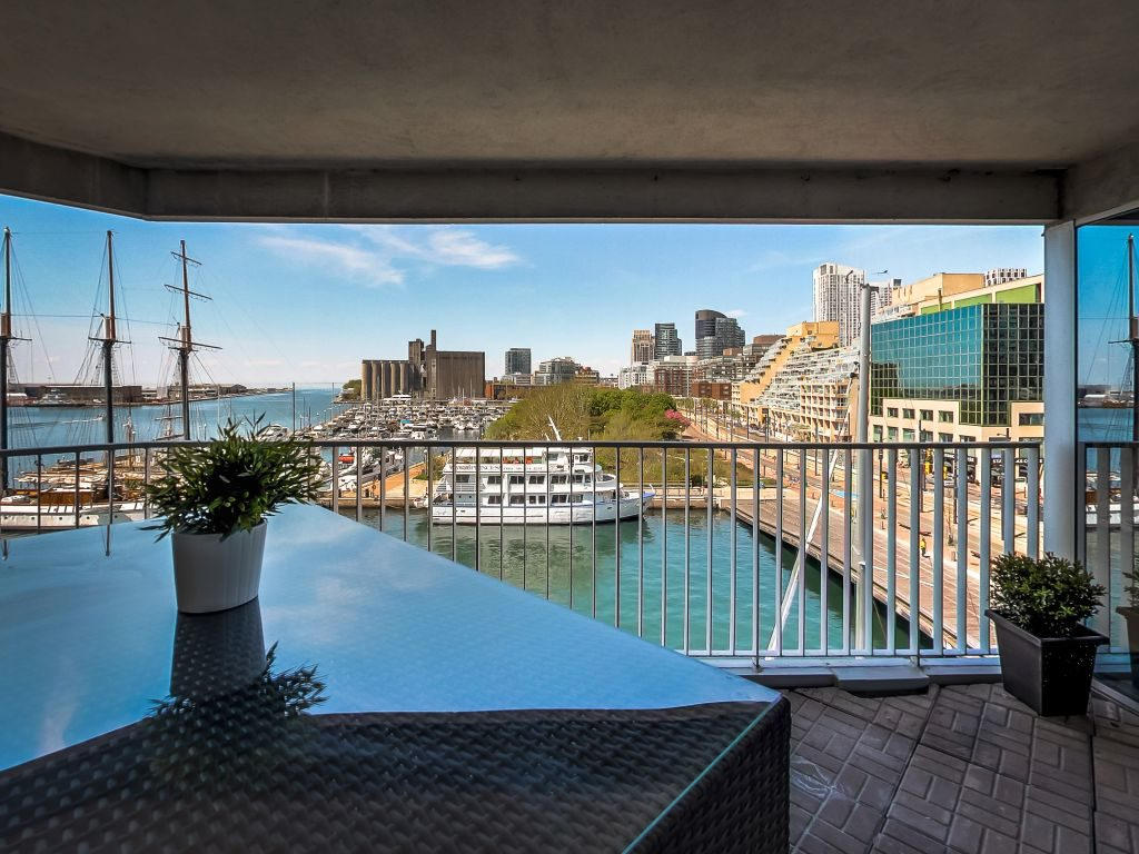 401 Queens Quay W 503 west view from open balcony