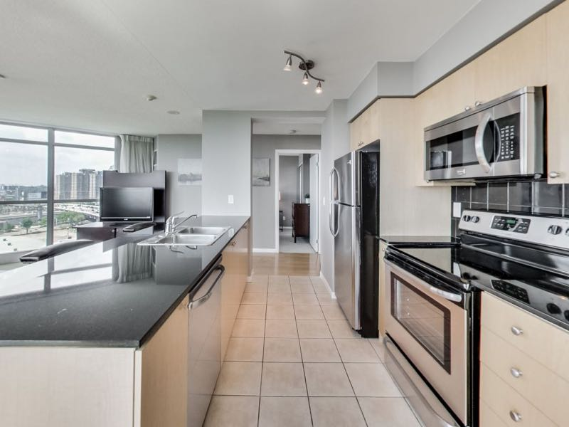 231 Fort York Blvd 1603 kitchen with stainless steel appliances and granite counter tops