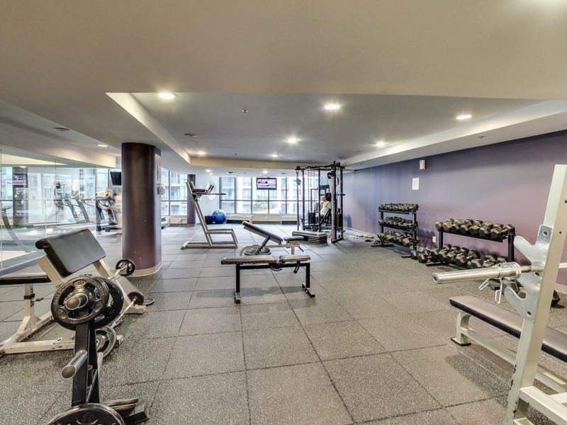 231 Fort York Blvd large renovated gym and workout studios