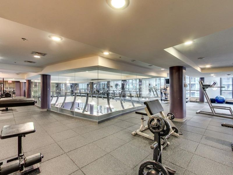 231 Fort York Blvd renovated gym on second level of 219 Fort York Blvd